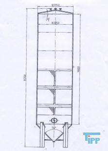 gebrauchte gebrauchtes gebrauchter lagertank edelstahltank speicherbeh lter. Black Bedroom Furniture Sets. Home Design Ideas